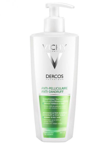 Деркос шампунь усиления действия против перхоти для жирных волос и раздраженной кожи головы 390 мл (thumb29723)